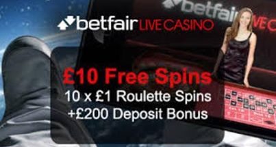 Free £10 worth of Free Spins on Roulette from Betfair